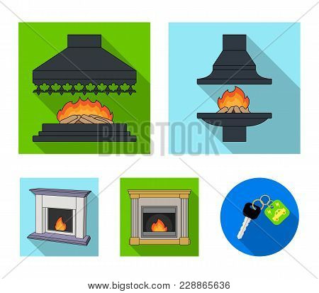 Fire, Warmth And Comfort.fireplace Set Collection Icons In Flat Style Vector Symbol Stock Illustrati