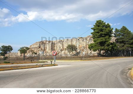 Greece. Peloponnese. Ruins Of The Ancient City Of Tirynph