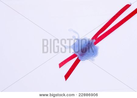 Blue Wax Seal Isolated On White