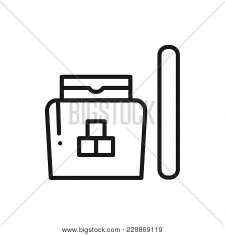 Sugaring Line Icon. Hair Removal Method. Sugaring Paste, Sticks