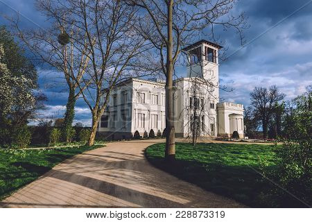 April, 10th, 2017 - Potsdam, Brandenburg, Germany. Villa Henckel Facade At The Pfingstberg Hill In P