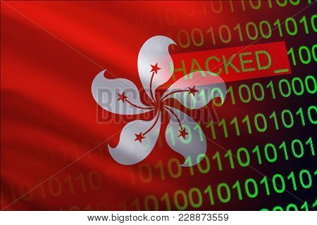 Hong Kong Hacked State Security. Cyberattack On The Financial And Banking Structure. Theft Of Secret