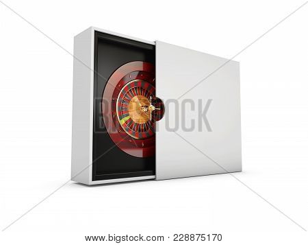 Roulette Wheel Isolated On White Background. 3d Illustration.