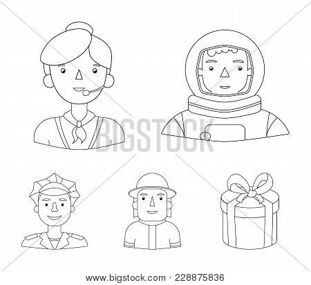 An Astronaut In A Spacesuit, A Co-worker With A Microphone, A Fireman In A Helmet, A Policeman With