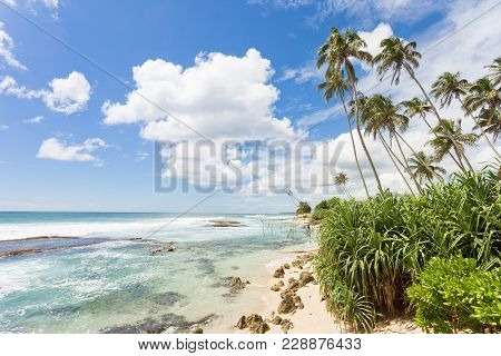 Koggala Beach, Sri Lanka, Asia - Feeling Free While Relaxing At The Beatiful Landscape Of Koggala Be