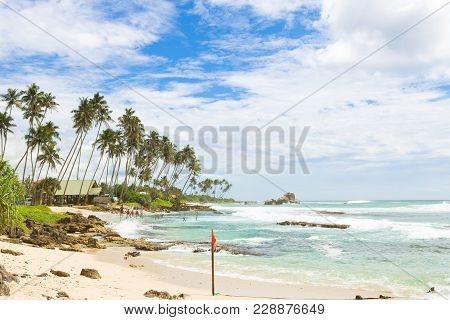Koggala Beach, Sri Lanka, Asia - A Wide View Across The Bay Of Koggala Beach