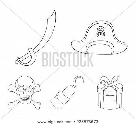 Pirate, Bandit, Cap, Hook .pirates Set Collection Icons In Outline Style Vector Symbol Stock Illustr