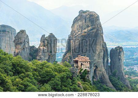 The Holy Monastery Of Rousanou (st. Barbara). Meteora, Greece.