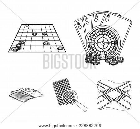 Excitement, Recreation, Hobby And Other  Icon In Outline Style.casino, Institution, Entertainment, I