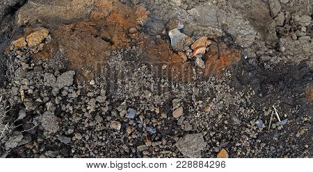 Clay soil background. Clay earth. Red soil. Natural background. Earth. Soil. Earth background. Grunge soil. Grunge earth.