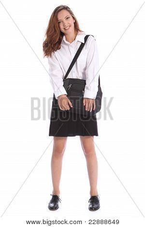 Secondary Education Pretty Girl In School Uniform