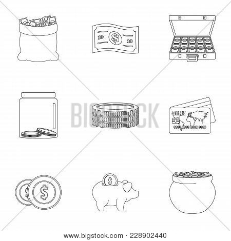Sponsor Help Icons Set. Outline Set Of 9 Sponsor Help Vector Icons For Web Isolated On White Backgro