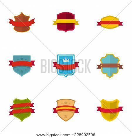 Standard Icons Set. Flat Set Of 9 Standard Vector Icons For Web Isolated On White Background