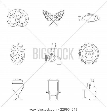Delicacy Icons Set. Outline Set Of 9 Delicacy Vector Icons For Web Isolated On White Background