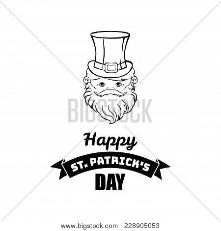 Cartoon Leprechaun St Patricks Day Character. Vector Illustration Isolated On White Background.