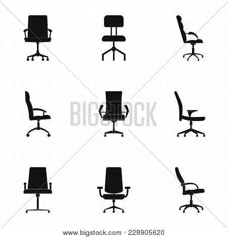 Recliner Icons Set. Simple Set Of 9 Recliner Vector Icons For Web Isolated On White Background
