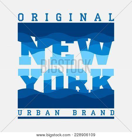 New York Typography, T-shirt  New York, Design Graphic, Printing Man Nyc, Original Design Clothing,