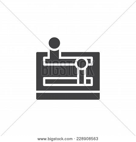 Lever Arm Vector Icon. Filled Flat Sign For Mobile Concept And Web Design. Control Lever Simple Soli