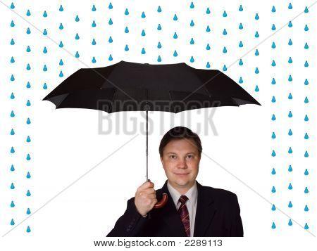 Men And Umbrella