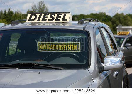 diesel vehicle is at used car dealer