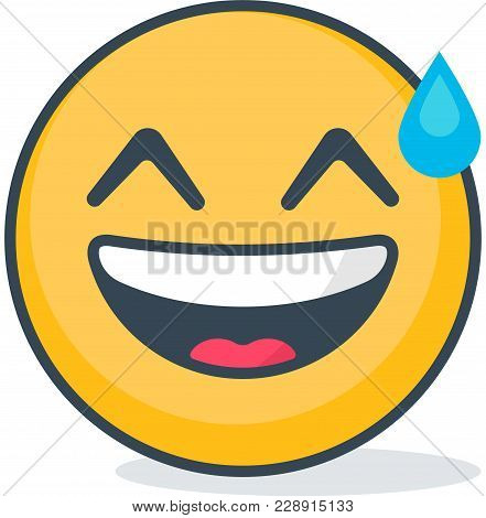 Isolated Carried Away Emoticon. Isolated Vector Emoticon.