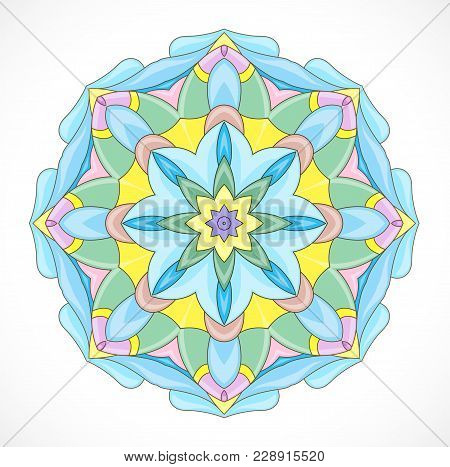 Vector Illustration With Abstract Colorful Rosette. Illustration 10 Version