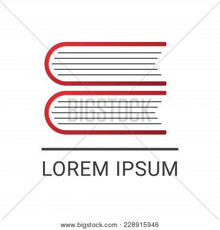 Book Vector Logo Design Template, Letter E Symbol, Minimal Notebook Icon, Education Abstract Sign, V