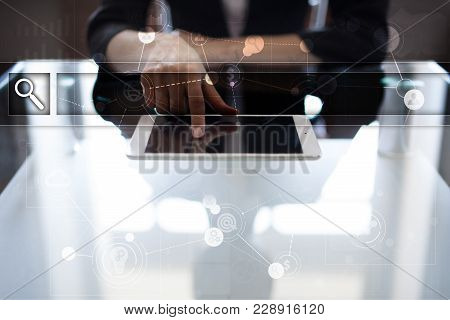 Empty Search Bar. Web Site, Url. Business, Internet And Technology Concept