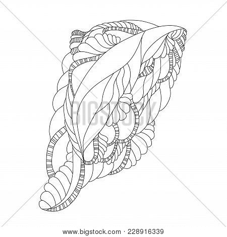 Vector Illustration With Abstract Isolated Black Shape. Illustration 10 Version