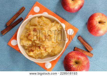 apple sauce and cinnamon