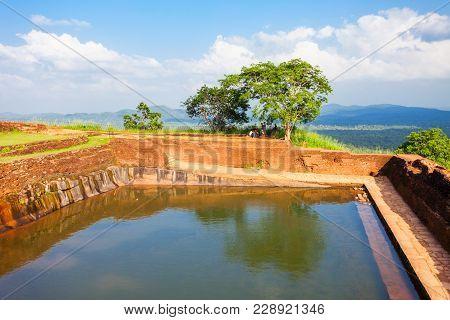 Pool In The Royal Garden Palace Complex On The Top Of Sigiriya Rock Or Lion Rock Near Dambulla In Sr