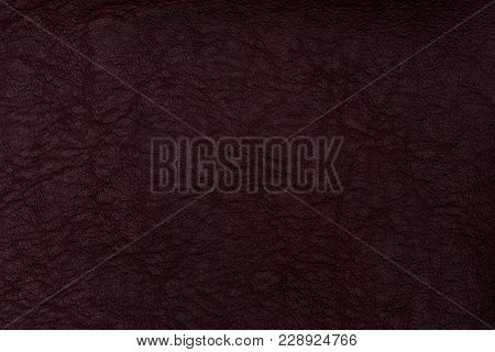Red Leather Texture Background. Abstract Background, Empty Template. Top View.