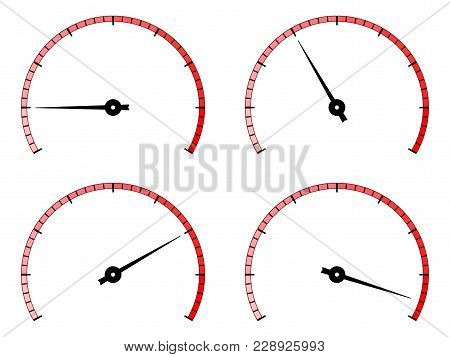 Industrial Blank Scale. Gauge. Vector Illustration Isolated On White Background
