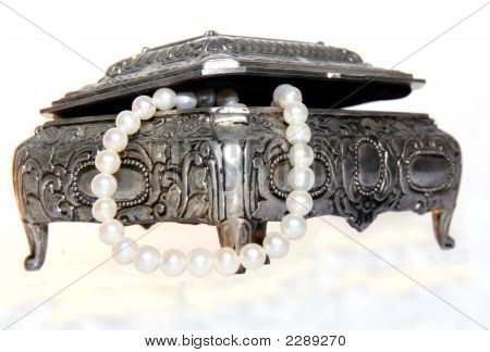 Silver Case With Pearls