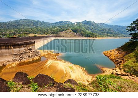 The Kotmale Dam Is A Hydroelectric And Irrigation Dam In Kotmale, Sri Lanka. Kotmale Dam Is The Seco