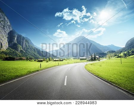 Mountain road, Jungfrau region, Switzerland