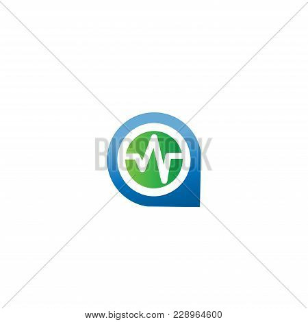 Blood Pressure Vector Icons With Gps. Good Health Logo. Heart Cheering Cardiogram. Healthy Pulse Fla
