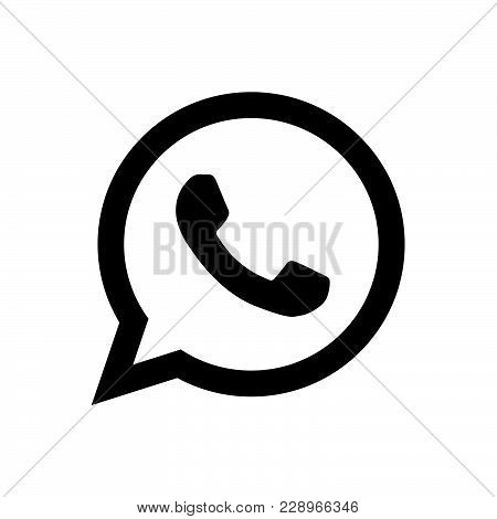 Whatsapp logo icon isolated on white background. Whatsapp logo icon modern symbol for graphic and web design. Whatsapp logo icon simple sign for logo, web, app, UI. Whatsapp logo icon flat vector illustration, EPS10.
