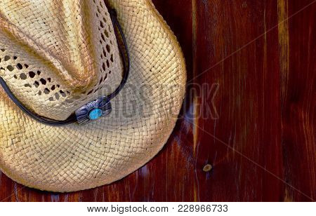Old Cowboy Straw Hat With Room For Your Type.