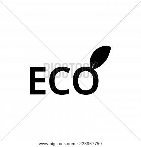 Eco Energy Icon Isolated On White Background. Eco Energy Icon Modern Symbol For Graphic And Web Desi