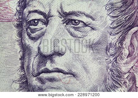 Detail Od Frantisek Palacky Portrait From Czech Currency One Thousand Banknote.