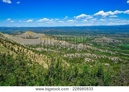 Spectacular View Of Colorado Mountains Near Mesa Verda National Park