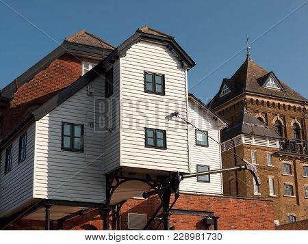 Colchester Old Water Mill Large House Estate Famous Architecture Close Up