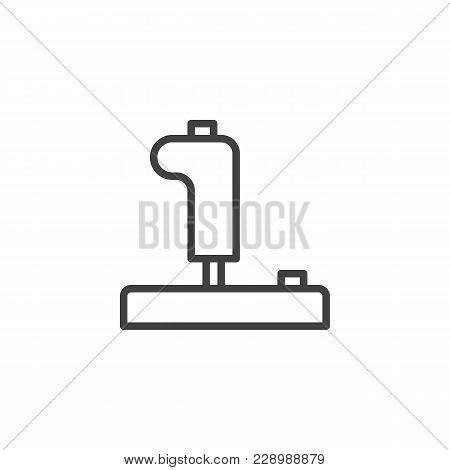 Joystick Outline Icon. Linear Style Sign For Mobile Concept And Web Design. Control Video Game Joyst