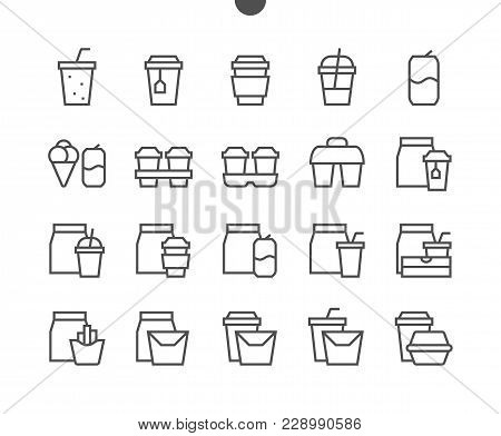 Take Out Ui Pixel Perfect Well-crafted Vector Thin Line Icons 48x48 Ready For 24x24 Grid For Web Gra