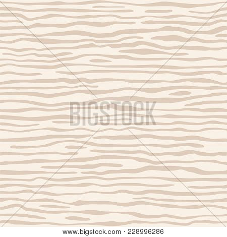 Light Beige (ivory) Wood Texture Template. The Structure Of The Surface Of The Plywood, Natural Patt