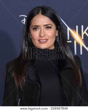 LOS ANGELES - FEB 26:  Salma Hayek arrives for the