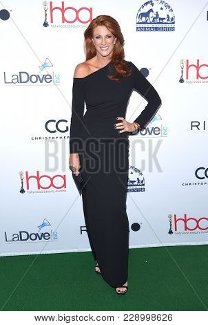 LOS ANGELES - FEB 25:  Angie Everhart arrives for the Hollywood Beauty Awards 2018 on February 25, 2018 in Hollywood, CA