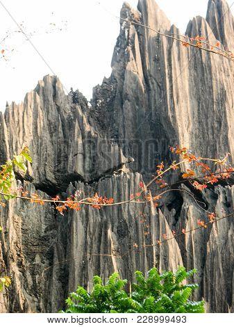 Rock Formations In Yana Karnataka, India. Massive Rock Outcrops Known As The Bhairaveshwara Shikhara