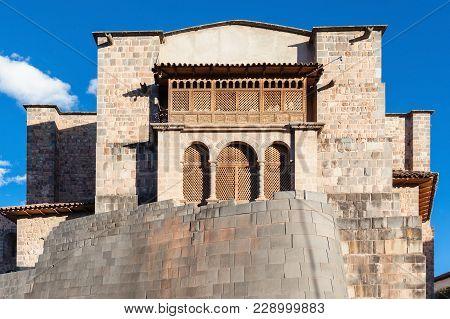 Qurikancha Temple Also Known As Church Of Santo Domingo In Cusco, Peru